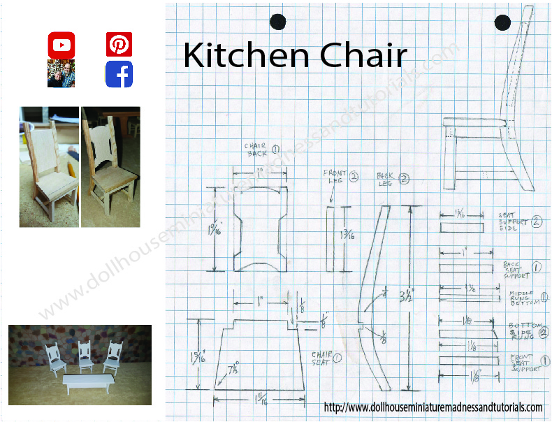 graphic about Free Printable Dollhouse Furniture Patterns called Templates - Dollhouse Miniature Insanity and Tutorials